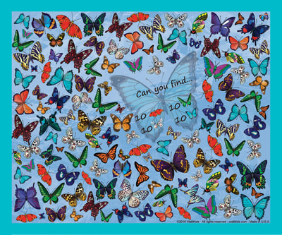 Walli-Kids activity-posters How many butterflies can you find?